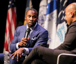Retired NFL wide receiver Anquan Boldin