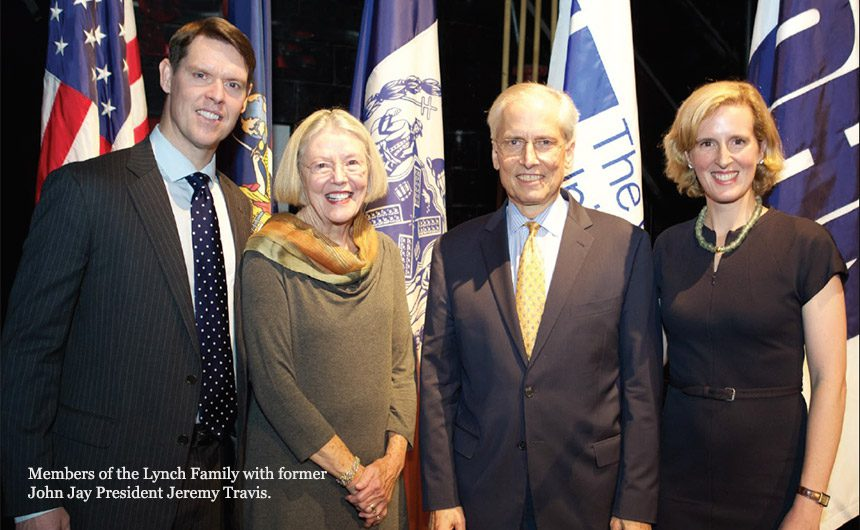 Members of the Lynch Family with former John Jay President Jeremy Travis.