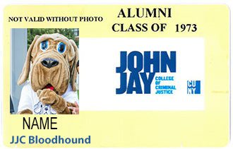 Example of Alumni card