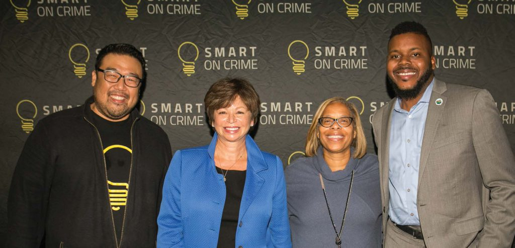 (left to right) Ed Chung, Center for American Progress; Valerie Jarrett, Senior Advisor to President Barack Obama; President Karol V. Mason, John Jay College of Criminal Justice; Michael Tubbs, Mayor of Stockton, California