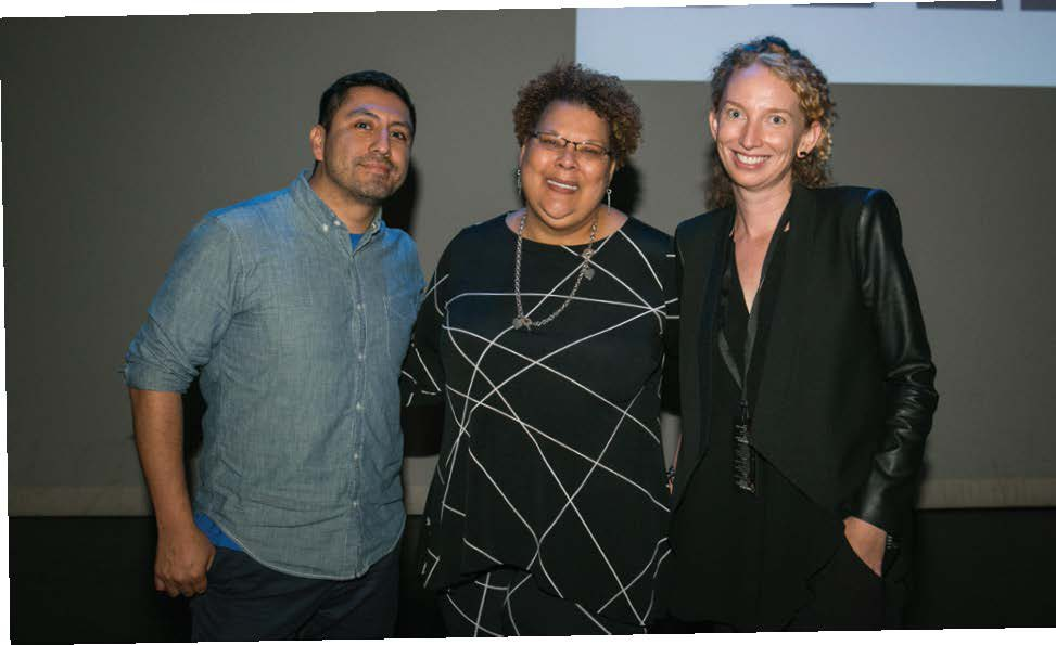 (left to right) Rudy Valdez, Director, The Sentence documentary; Vivian Nixon, College and Community Fellowship; and Zoe Towns, FWD.us