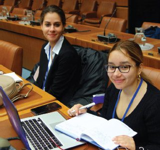 John Jay students at the United Nations Office in Vienna